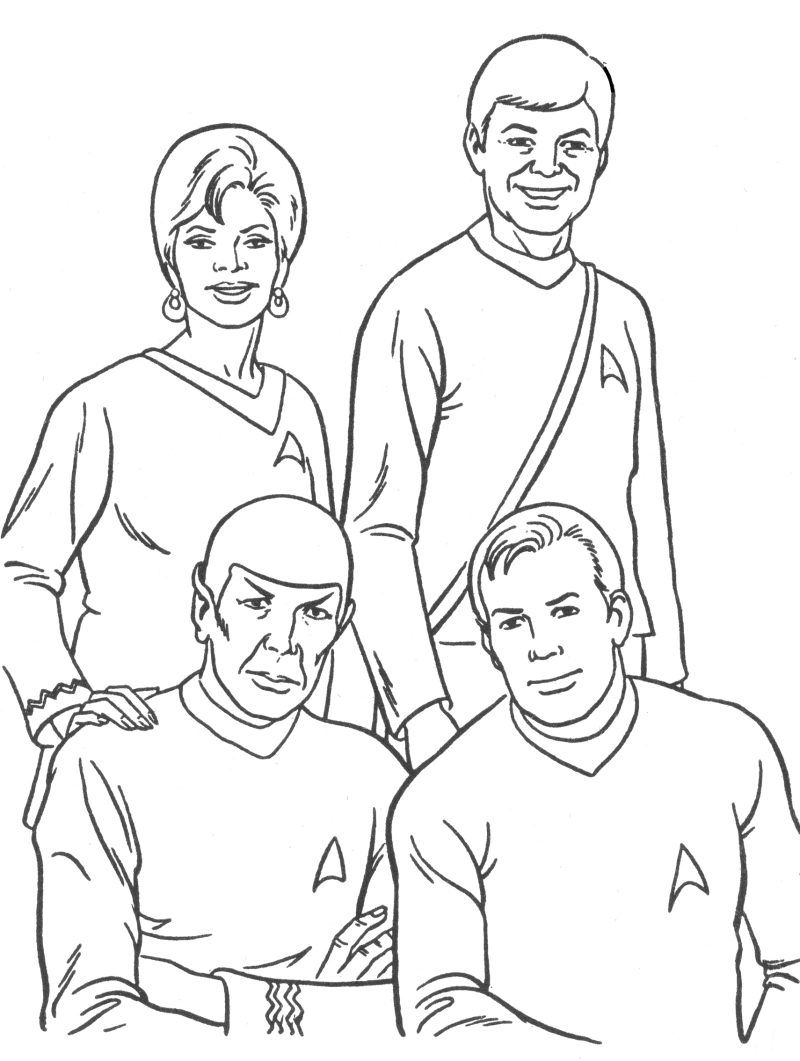 coloring pages star treck - photo#5