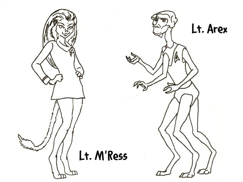star trek the animated series - Star Trek Coloring Book
